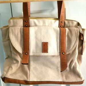 Heavy Canvas & Leather Shoulder Bag